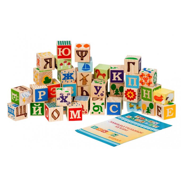 Деревянные кубики Томик Занимательные буквы
