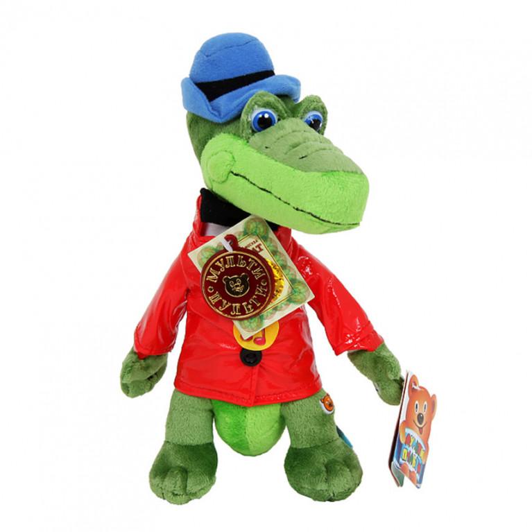 Крокодил Гена в красной куртке. Игрушка. 21 см.