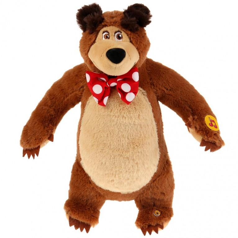 Маша и медведь. Мишка. Озвученная игрушка. 28 см.