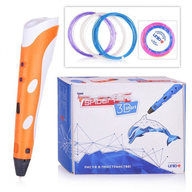 """3D Ручка """"SPIDER PEN START"""" цвет оранжевый"""